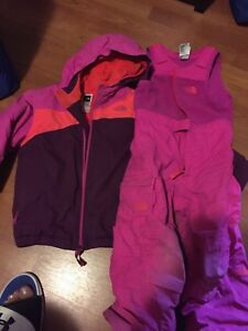 North face girls snow suit size 5 yr