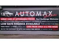 AUTOMAX CAR SALES LOW FINANCE, HPI CHECKED,WARRANTIES, FINANCE FROM £12 PER WEEK, BRIDGEND CF32 9BT
