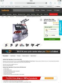 Halfords 3 cycle rear carrier