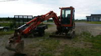 Mini Kubota kx91 excavator for rent