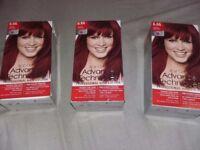 Avon Advance Techniques permanent Intense red hair colour x3 new