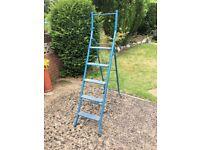 Vintage Metal Step Ladder For Sale