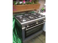 Range cooker dual fuel 90cm good condition
