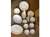 35 Piece Dining Set, St Michael (Marks And Spencer) Fine Bone China Connaught Golden Rim Made In UK