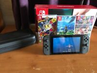 Nintendo Switch plus 3 games and extras