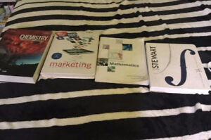 UNB Frederiction First Year Science and Business Textbooks