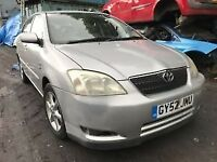 2002 Toyota Corolla 1.6 Petrol 5dr Breaking For Spares