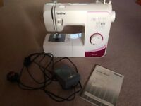 Brother RL417 Sewing Machine complete with accessories, ideal for beginner sewer.