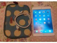 Apple iPad Mini 16GB, WiFi, White/silver in excellent condition