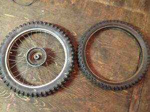 (2) 19 inch Dirtbike Tires, tube, rim
