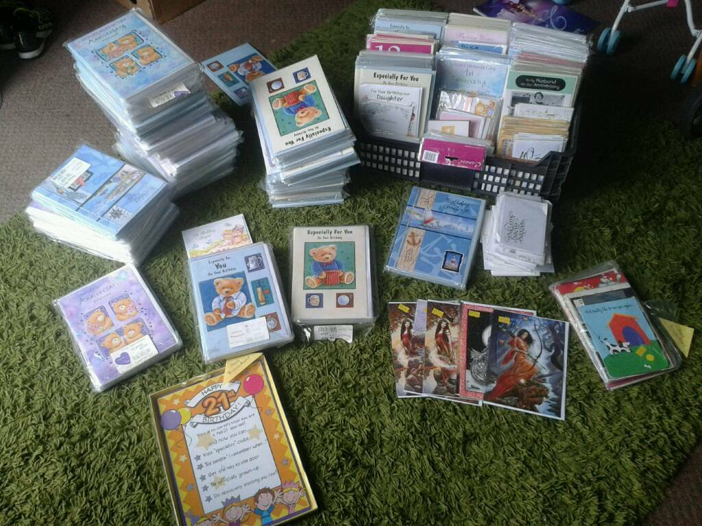 Large bundle of cards