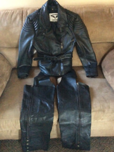 Women's Motorcyle jacket and chaps