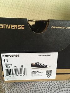 Youth size 11 Converse shoes, never worn