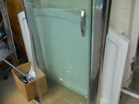 Complete shower cubical, stone tray, Iflo mixer tap