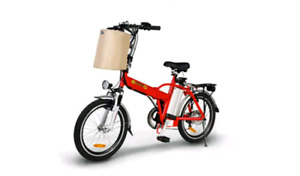 Emmo f6 foldable ebicycle red