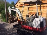 Mini digger hire JWL plant hire Bristol