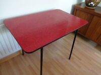Vintage Retro 'Atomic' Red Formica Table