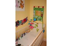 Cot bed with mattress for Sale - Excellent condition