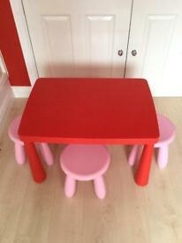 Children's Table & 4 Stools