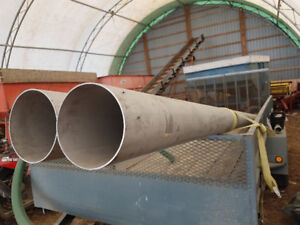 Two 20' stainless steel pipes