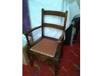 very old commode chair ( without pot )