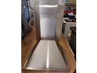 Baumatic 60cm cooker hood stainless steel and 60cm full height splash back