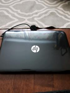 HP black touchscreen laptop