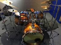 SJC USA Drum Kit - including snare and cases