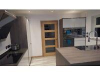 New Chalk White Gloss Kitchen Units