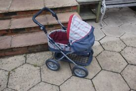 Pram and Doll Set (Silver Cross and Baby Annabel)
