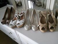Shoes size 3 , four pairs, worn once.