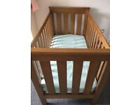 King Parrot wooden cot with lowerable side