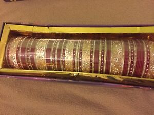 Traditional bengali red and white bangles