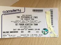 The Psychedelic Furs 02 Forum Kentish Town 09/09/17