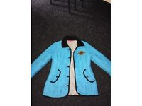 Bright blue girls pineapple jacket