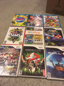 Wii U, Wii, PS3, X box games and controllers (price vary)