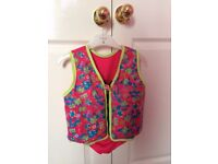 girls flotation swimming jacket age 3-4 years .excellent condition