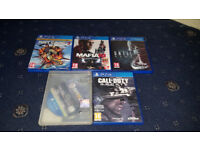 3 X Playstation 4 Games PS4 Games Until Dawn, Call Of Duty Ghosts