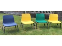 Vintage retro children's chairs