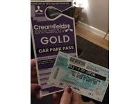 Creamfields Gold 4 day camping ticket plus car park pass