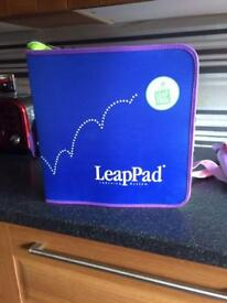 Leap pad with bag and 12 games