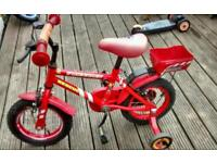 "12"" fire chief bike with stabilizers"