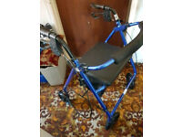 Rolator R8 mobility aid trolley chair with brakes etc