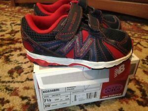 Toddler size 7.5 extra wide New Balance shoes
