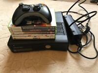 Xbox 360 250gb slim with games