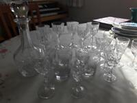Decanter and glasses set