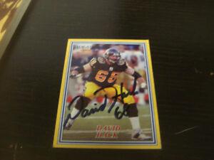 David Hack (Hamilton Tiger Cats) Sports Card Autographed