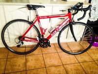 Carrera Zelos road bike with lots of upgrades 11 speed Shimano 105