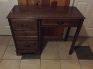 Small solid wood desk