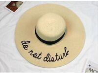 Women's do not disturb straw beach hat new